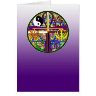 Unity Spiritual Symbols Greeting Card