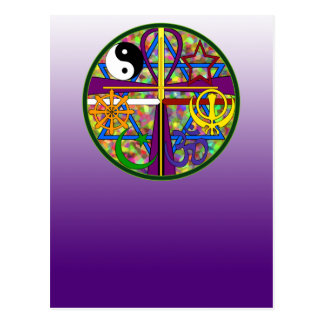 Unity Spiritual Symbols Postcard