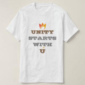 UNITY STARTS WITH U (orange to red fire) custom T-Shirt