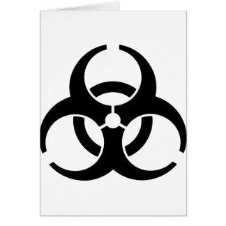 Universal Biohazard Insignia Greeting Card