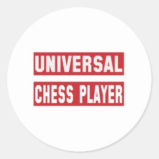 Universal Chess player. Classic Round Sticker