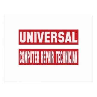 Universal Computer repair technician Postcard