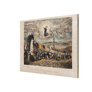Universal Democratic and Social Republic, 1848 Canvas Print