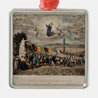 Universal Democratic and Social Republic, 1848 Silver-Colored Square Decoration