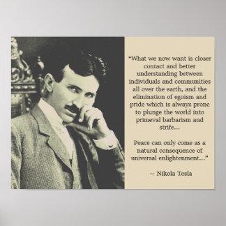 Universal Enlightenment - Tesla Poster