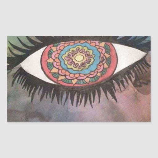 universal Eye (abstract art) Stickers