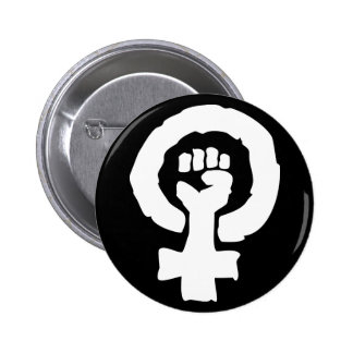 Universal Female symbol Solidarity hand 6 Cm Round Badge