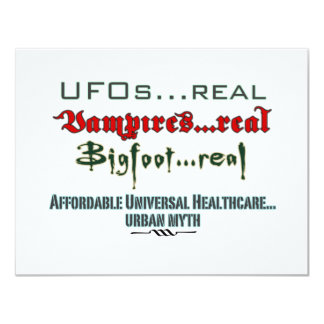 Universal Health Care 11 Cm X 14 Cm Invitation Card