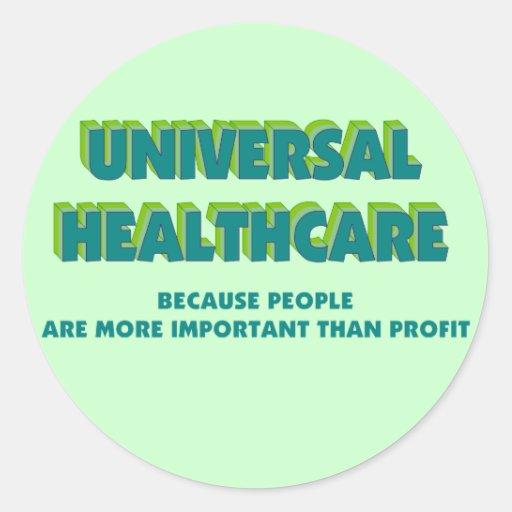 Universal HealthCare Stickers