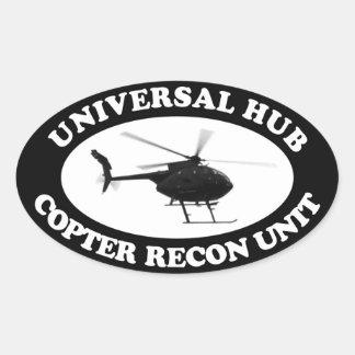 Universal Hub Copter Recon unit Euro-style sticker