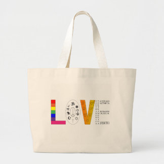 Universal Love Large Tote Bag