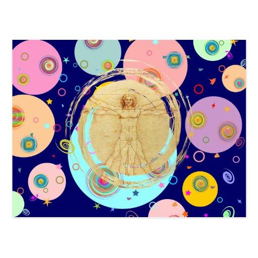 Universal Man (Vitruvian Man) Post Cards