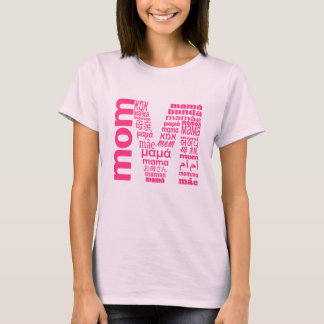 Universal Mom In Many Language Initial T-Shirt
