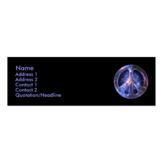 Universal Peace Profile Card Pack Of Skinny Business Cards