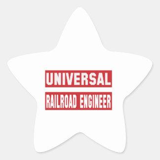Universal Railroad engineer. Star Sticker