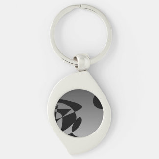 Universal Smile Silver-Colored Swirl Key Ring