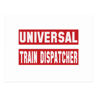 Universal Train dispatcher. Postcard