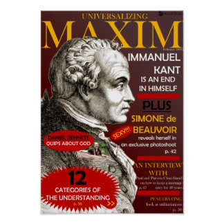 Universalizing Maxim Posters