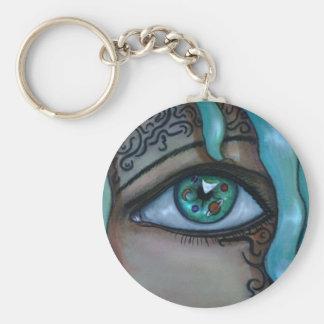 Universe Eye Basic Round Button Key Ring