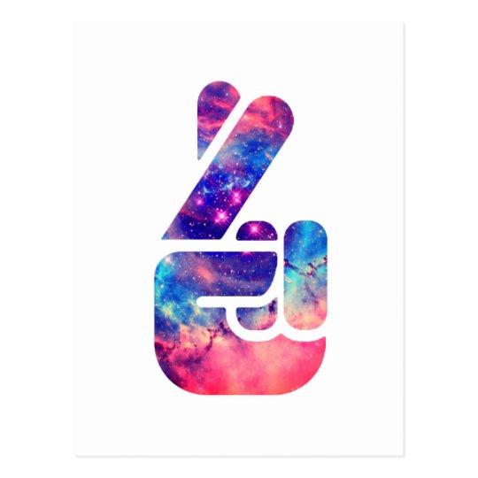 Universe 'Fingers Crossed' Postcard