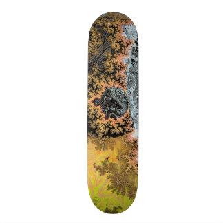 Universe Galaxy Black Bright Yellow Stars Fractal Skateboard
