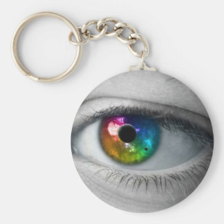 universe in our eyes basic round button key ring