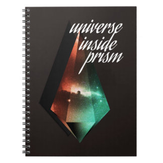 Universe inside prism notebook
