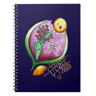 Universe of nut - green pop nature illustration notebooks