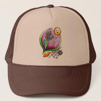 Universe of nut - nature illustration green pop trucker hat