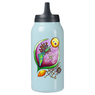 Universe of nut - pop nature green illustlation insulated water bottle