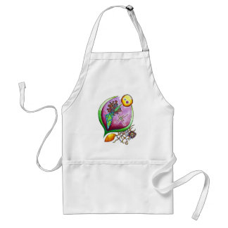 Universe of nut - pop nature illustration green standard apron