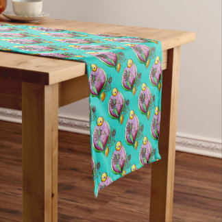 Universe of nut - table runner nature illustration
