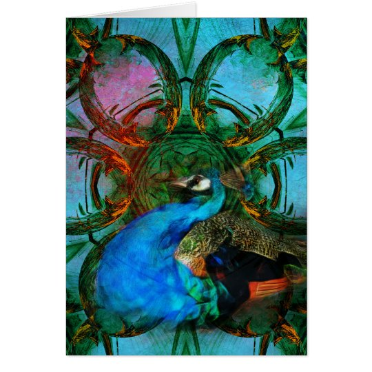 Universe of the Peacock vertical card