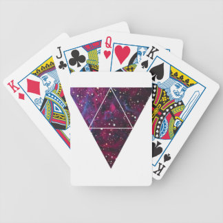 Universe Of Triangles Space Life Bicycle Playing Cards