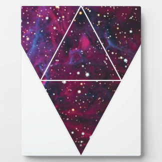 Universe Of Triangles Space Life Display Plaque