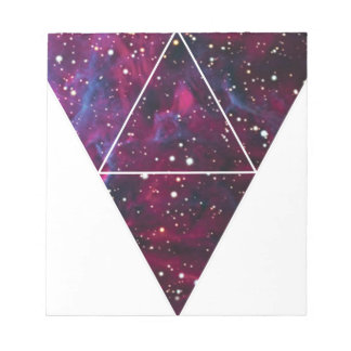Universe Of Triangles Space Life Notepad