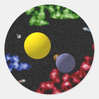 Universe Round Sticker