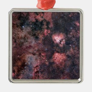 Universe Silver-Colored Square Decoration