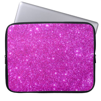 Universe Star Hot Pink Glitter Sparkle Laptop Case