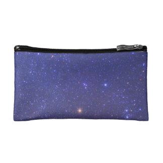 Universe - stars in space - blue sky makeup bag