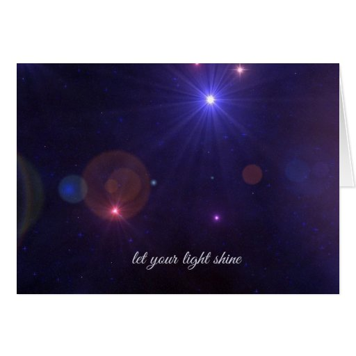 Universe Stars  Inspirational Quote Greeting Card