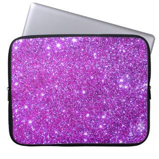 Universe Stars Pink Glitter Sparkles Laptop Case 1 Computer Sleeve