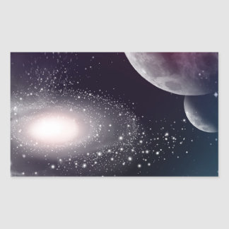 Universe Rectangular Stickers