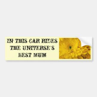 Universe's Best Mum Bumper Sticker