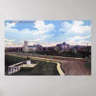 University Circle, Cleveland Ohio 1915 Vintage Poster