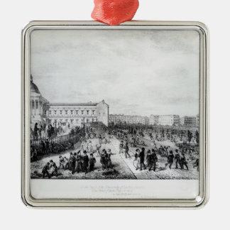 University College School, London, 1835 Silver-Colored Square Decoration