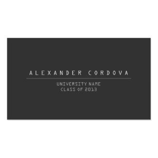 UNIVERSITY/COLLEGE STUDENT DK GRAY Business Card