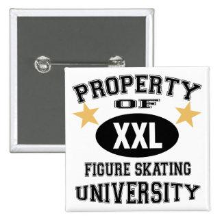 University Figure Skating 15 Cm Square Badge