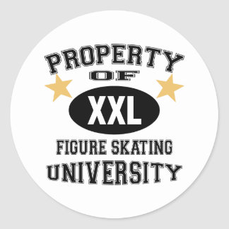 University Figure Skating Round Sticker
