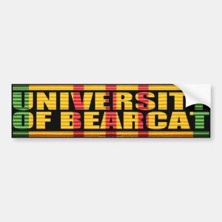 University of Bearcat Sticker Bumper Sticker